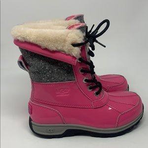 UGG Butte II Patent Sparkle pink girls boots
